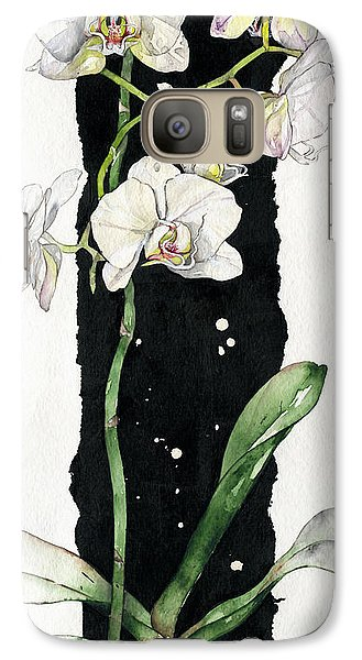Galaxy Case featuring the painting Flower Orchid 05 Elena Yakubovich by Elena Yakubovich