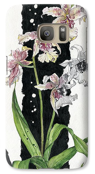 Galaxy Case featuring the painting Flower Orchid 06 Elena Yakubovich by Elena Yakubovich