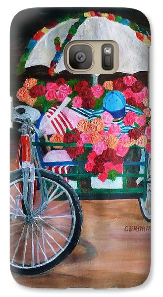 Galaxy Case featuring the painting Flower Peddler by Christy Saunders Church