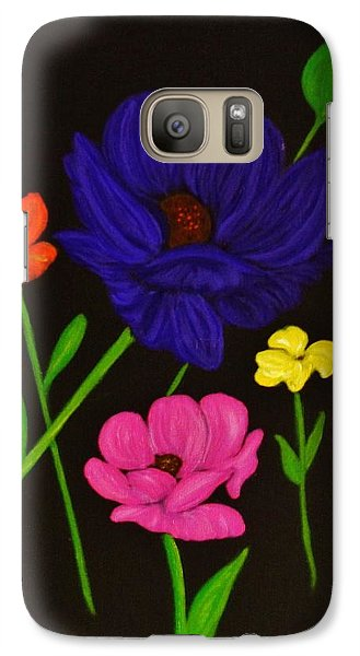 Galaxy Case featuring the painting Flower Play by Celeste Manning