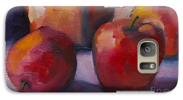 Galaxy Case featuring the painting Flower Pot And Apples by Michelle Abrams