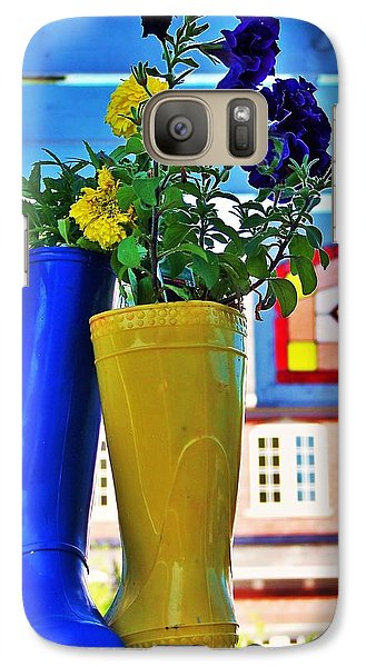Galaxy Case featuring the photograph Flower Pots... by Al Fritz