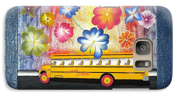 Galaxy Case featuring the painting Flower Power by Ron Davidson
