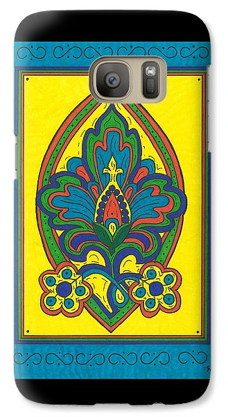 Galaxy Case featuring the painting Flower Power Talavera Style by Susie Weber