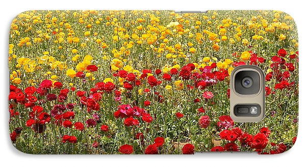 Galaxy Case featuring the photograph Flower Rainbow by Nathan Rupert