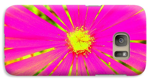 Galaxy Case featuring the photograph Flower Rays by Julia Ivanovna Willhite