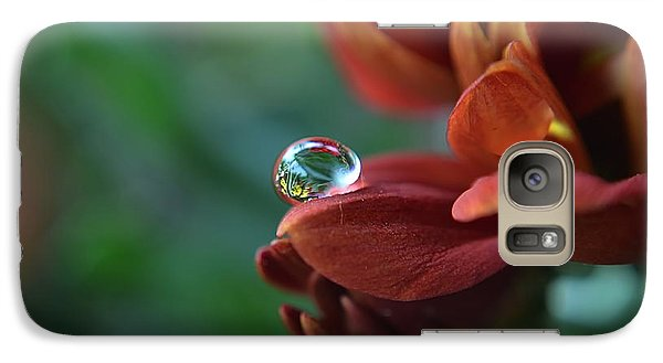 Galaxy Case featuring the photograph Flower Reflection by Michelle Meenawong