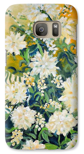 Galaxy Case featuring the painting Flower Study by Julie Todd-Cundiff