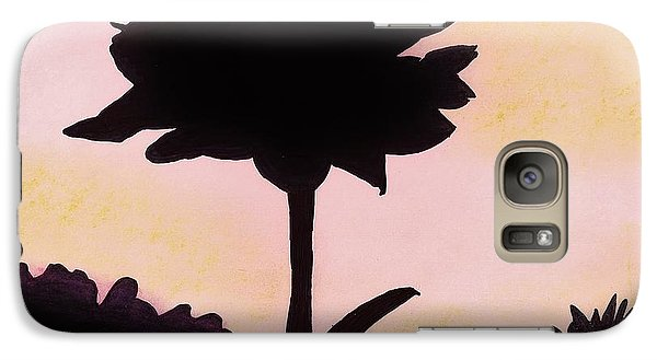 Galaxy Case featuring the drawing Flower - Sunrise by D Hackett