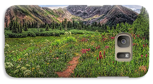 Galaxy Case featuring the photograph Flower Walk by Priscilla Burgers
