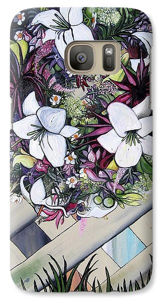 Galaxy Case featuring the painting Floral Wreath by Mary Ellen Frazee