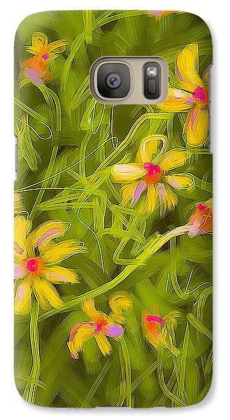 Galaxy Case featuring the painting Flowerfield by Go Van Kampen