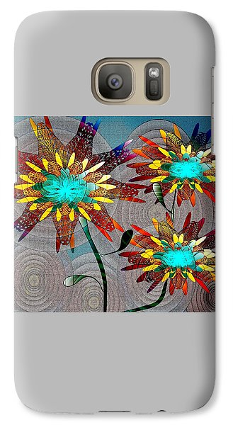 Galaxy Case featuring the drawing Flowering Blooms by Iris Gelbart