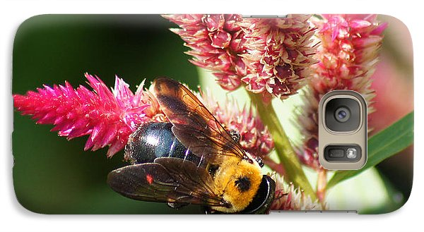 Galaxy Case featuring the photograph Flowering Bumble Bee by B Wayne Mullins