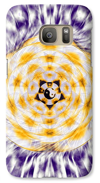 Galaxy Case featuring the drawing Flowering Emotion by Derek Gedney