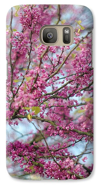 Galaxy Case featuring the photograph Flowering Redbud Tree by Suzanne Powers