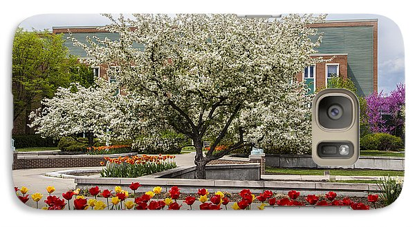 Michigan State Galaxy S7 Case - Flowers And Tree At Michigan State University  by John McGraw