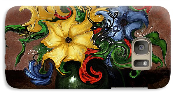 Galaxy Case featuring the painting Flowers Dancing by Terry Webb Harshman