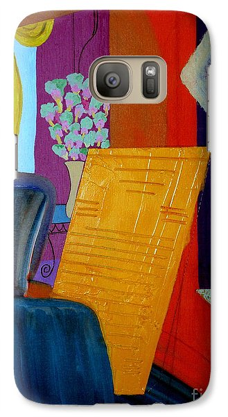 Galaxy Case featuring the painting Flowers For Matisse by Bill OConnor
