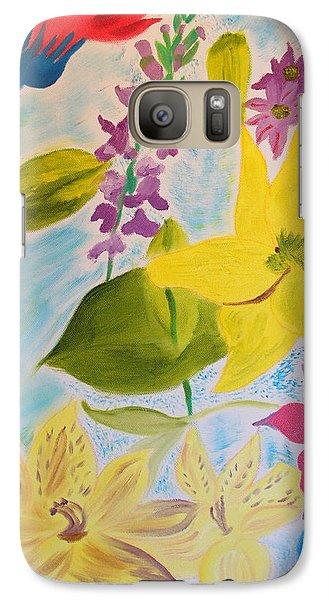 Galaxy Case featuring the painting Flowers For Mom by Meryl Goudey