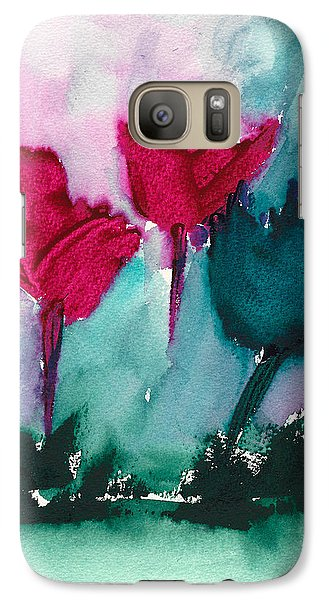 Galaxy Case featuring the painting Flowers For Trees by Frank Bright