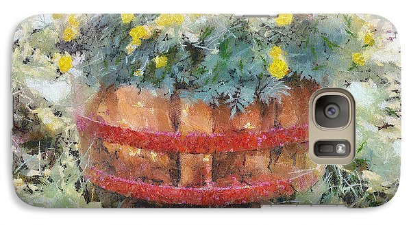 Galaxy Case featuring the painting Flowers by Georgi Dimitrov