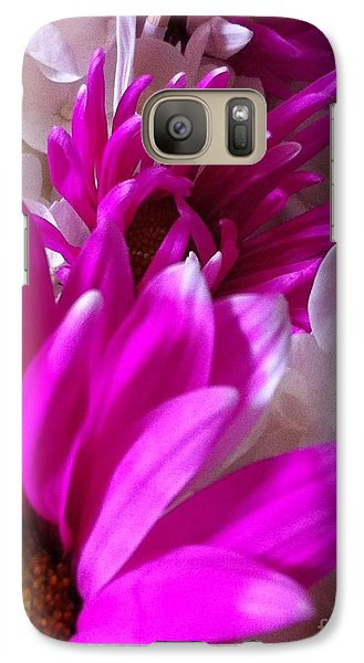Galaxy Case featuring the photograph Flowers In A Row by Gayle Price Thomas