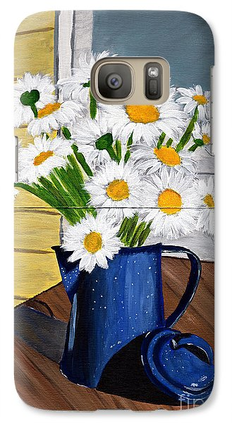 Galaxy Case featuring the painting Flowers In A Teapot by Laura Forde