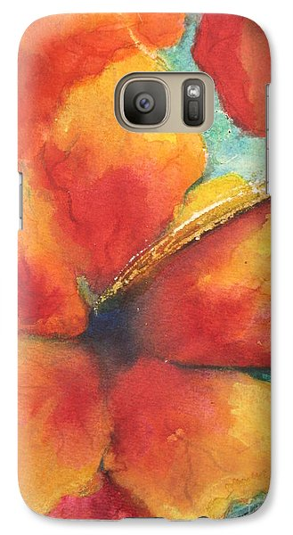 Galaxy Case featuring the painting Flowers In Bloom by Chrisann Ellis