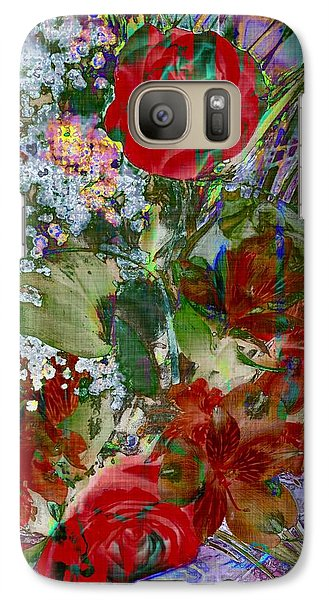 Galaxy Case featuring the digital art Flowers In Bloom by Liane Wright