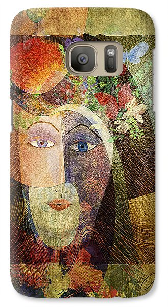 Galaxy Case featuring the digital art Flowers In Her Hair by Arline Wagner