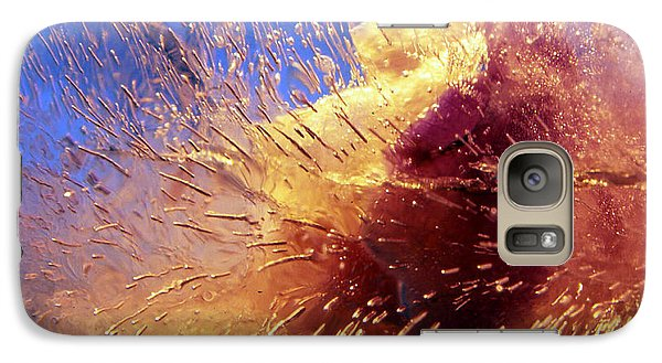 Galaxy Case featuring the photograph Flowers In Ice by Randi Grace Nilsberg