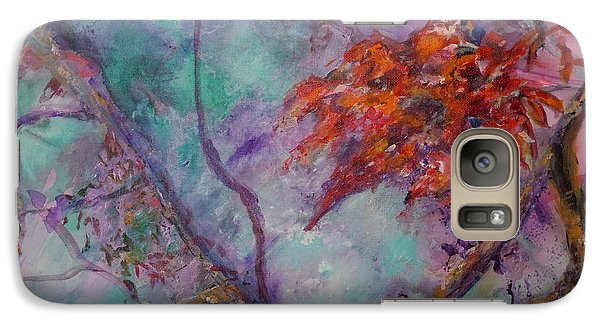 Galaxy Case featuring the painting Flowers In The Mist by Ellen Anthony