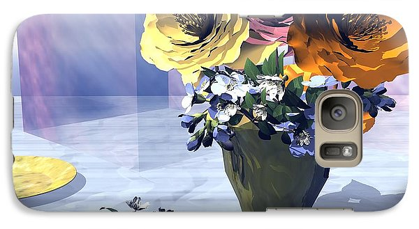 Galaxy Case featuring the digital art Flowers In Vase by John Pangia