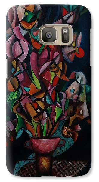 Galaxy Case featuring the painting Flowers by Kim Gauge
