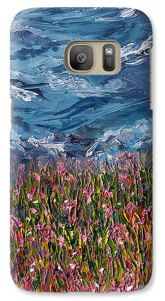 Galaxy Case featuring the painting Flowers Of The Field by Meaghan Troup