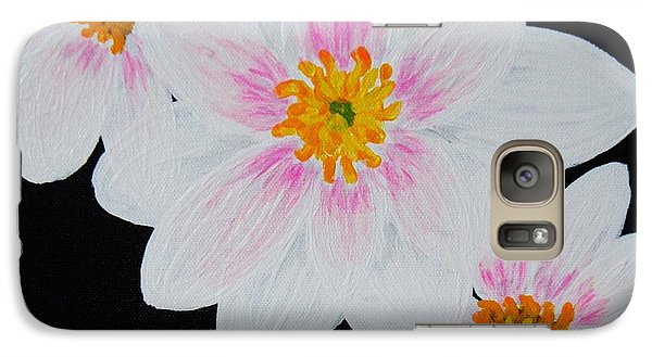 Galaxy Case featuring the painting Flowers Of The Night by Celeste Manning