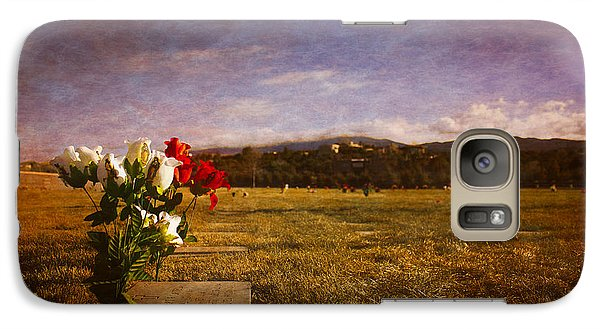 Galaxy Case featuring the photograph Flowers On Memorial by Dave Garner