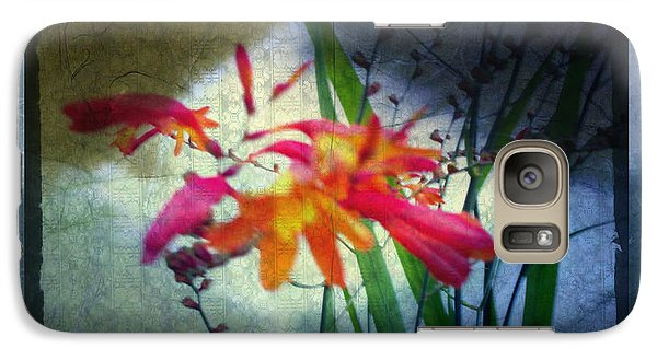 Galaxy Case featuring the digital art Flowers On Parchment by Absinthe Art By Michelle LeAnn Scott