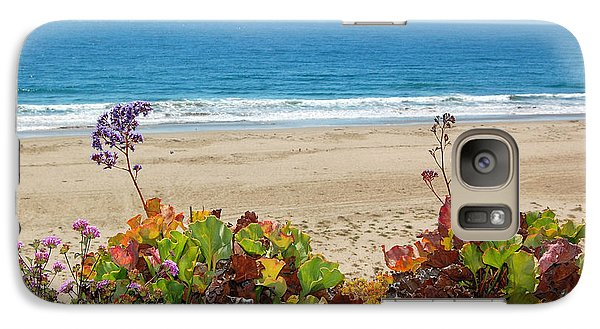 Galaxy Case featuring the photograph Flowers On Pismo Beach by Debra Thompson