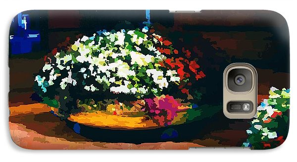 Galaxy Case featuring the digital art Flowers On The Canal by P Dwain Morris