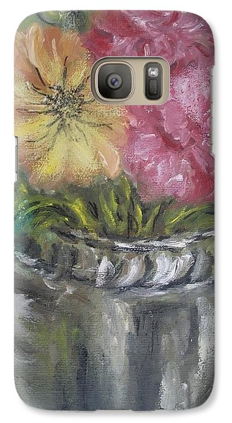 Galaxy Case featuring the painting Flowers by Teresa White