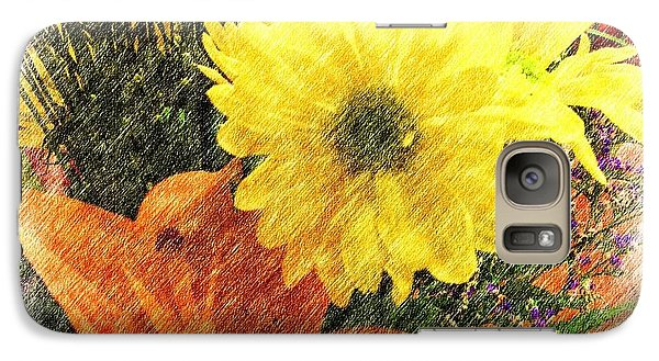 Galaxy Case featuring the photograph Flowers With Love by Luther Fine Art
