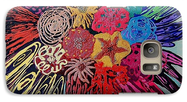 Galaxy Case featuring the painting Flowers Burst By Jasna Gopic by Jasna Gopic
