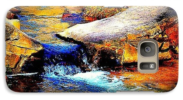 Galaxy Case featuring the photograph Flowing Creek by Tara Potts