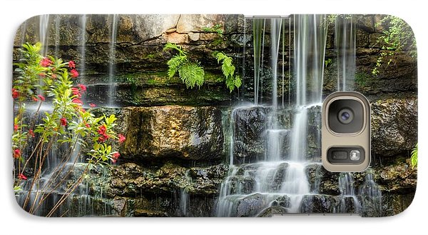 Galaxy Case featuring the photograph Flowing Falls by Dave Files
