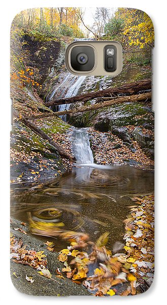 Galaxy Case featuring the photograph Flowing Leaves by Alan Raasch