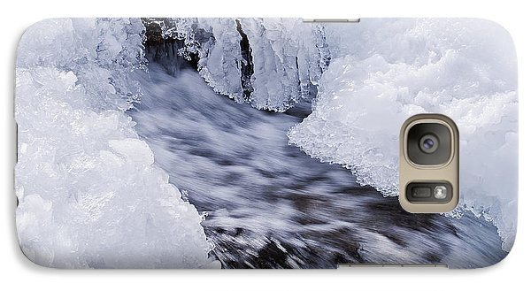 Galaxy Case featuring the photograph Flowing by Simona Ghidini