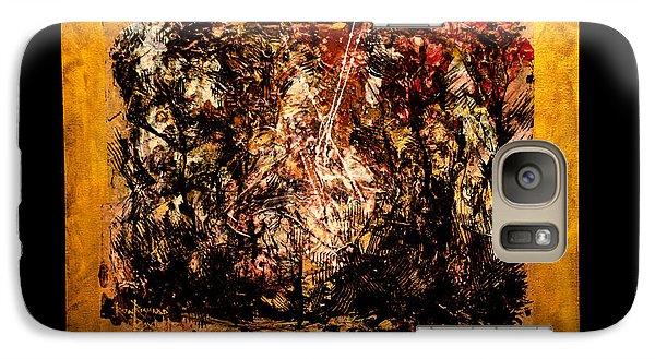 Galaxy Case featuring the painting Flummox by Ron Richard Baviello