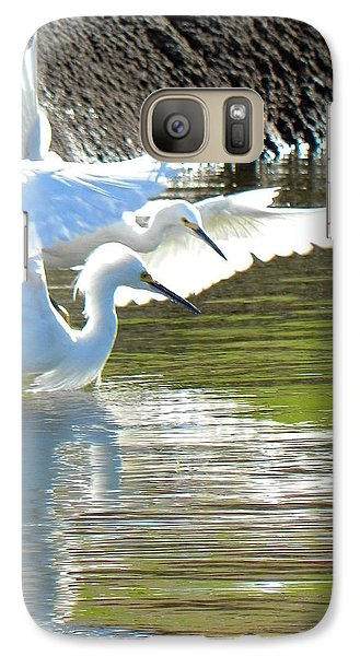 Galaxy Case featuring the photograph Flurry by Deb Halloran